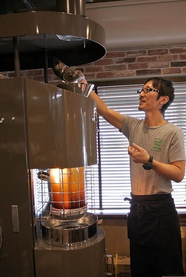 コフレアコーヒー  焙煎マシン